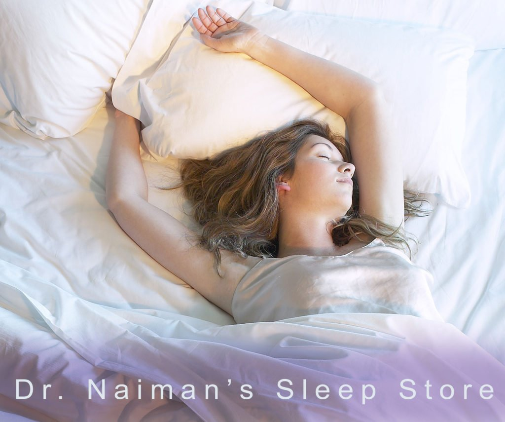 image of woman sleeping for Dr Naiman Store header